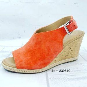Franco Sarto Julien Coral Wedge Sandals Size 7